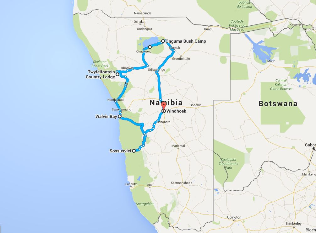 namibie du centre au nord