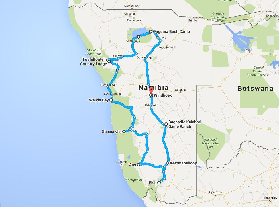 namibie du sud au nord