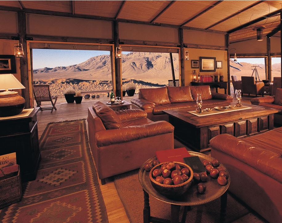 salon dune lodge namibie