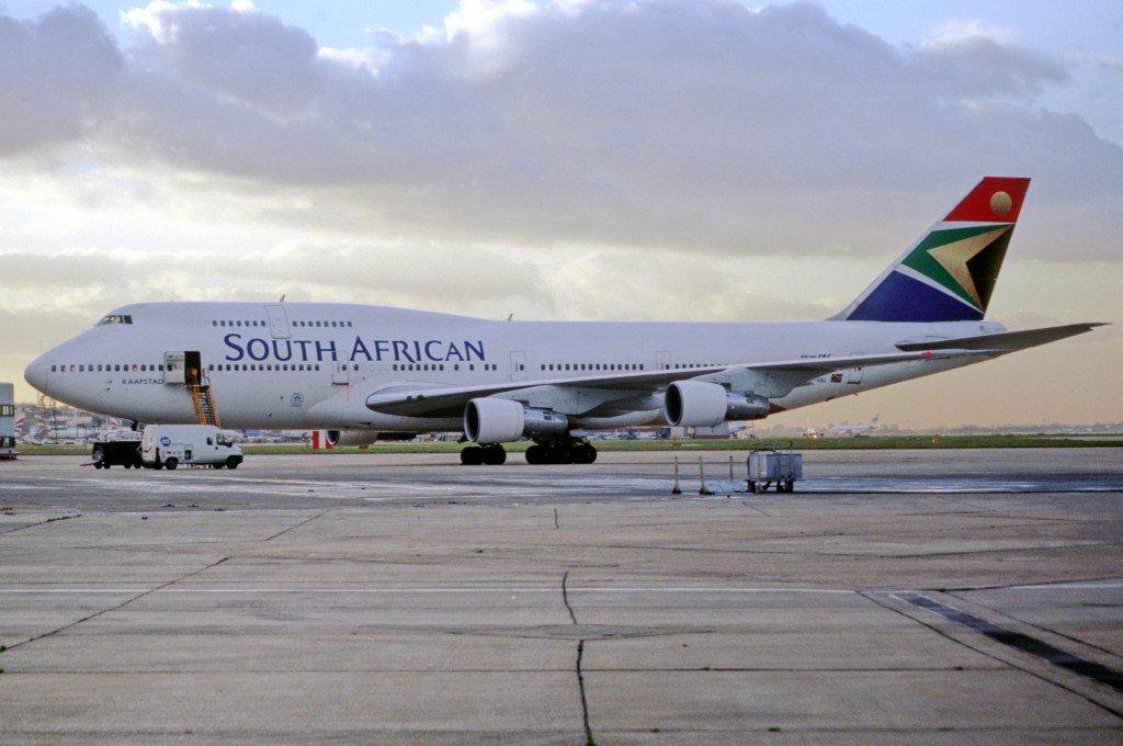 vol pour l'Afrique du Sud