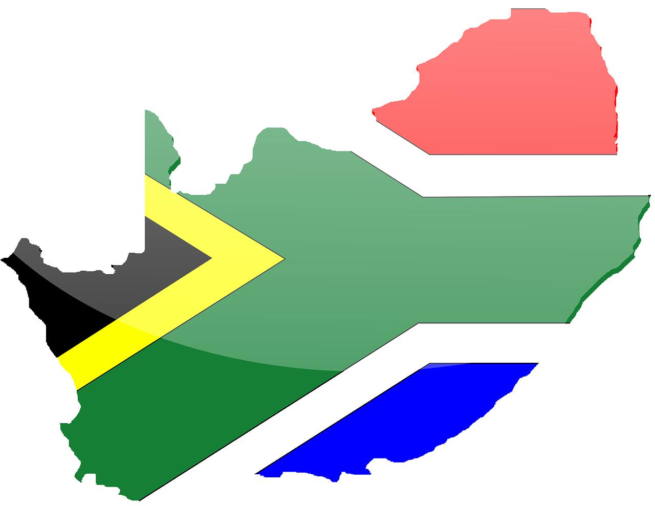 carte d'Afrique du Sud